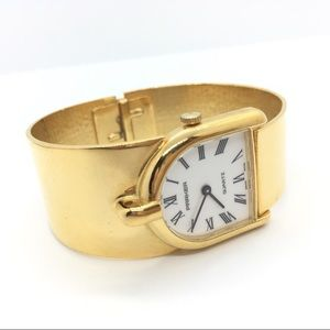 PARKER Goldtone Cuff Watch